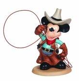Precious Moments Precious Moments, Disney Showcase Collection, Cowboy Mickey, Bisque Porcelain Figurine, 132708