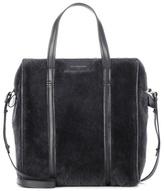 Balenciaga Bazar shearling shoulder bag