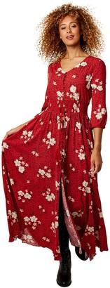 Joe Browns Beautiful Boho Dress - Red