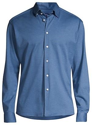 Eton Soft Casual Slim-Fit Pique Cotton Sport Shirt