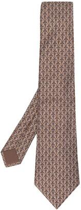 Hermes Pre-Owned 2000's geometric pattern tie