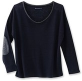 Petit Bateau Womens long-sleeved lacquered linen tee