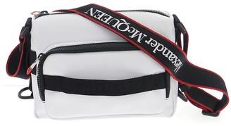 Alexander McQueen Logo Embroidered Crossbody Bag