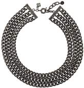 Karl Lagerfeld triple chain necklace
