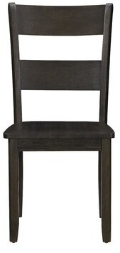 Rosalind Wheeler Zain Slat Back Side Chair in Distressed Walnut