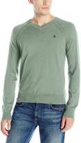 Original Penguin Men's Long Sleeve Ladder Raglan Pullover