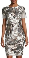 Alexia Admor Sequin-Embellished Sheath Dress, White
