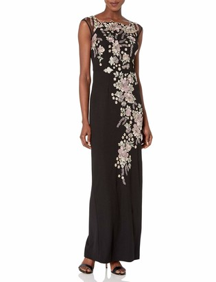 Decode 1.8 Women's Long Gown with Floral Applique