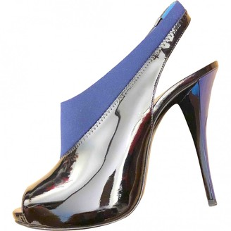 Pierre Hardy Blue Patent leather Sandals