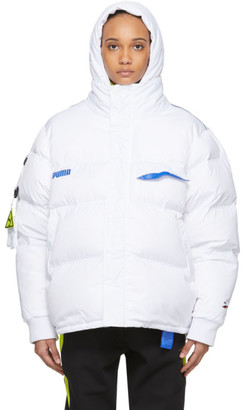 Ader Error White Down Puma Edition Puffer