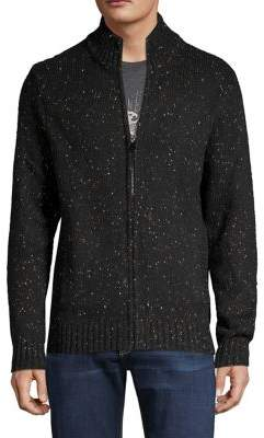Lucky Brand Full-Zip Cotton-Blend Sweater