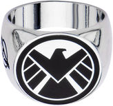 JCPenney FINE JEWELRY Marvel Agents of S.H.I.E.L.D. Logo Mens Stainless Steel Ring