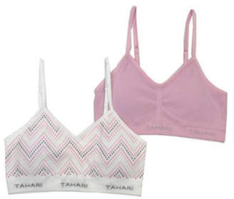 Tahari Girl Seamless 2-Pack Glitter Bra with Removable Cups