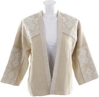 Masscob Beige Cotton Jacket for Women