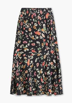 Lily & Lionel Black Dancing Leopard Lottie Skirt - XS - Black/Orange/Teal