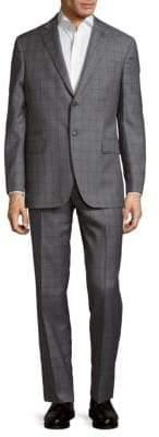 Michael Bastian Plaid Wool Suit