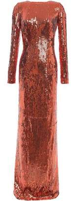 Galvan Adela Open-back Sequined Tulle Gown
