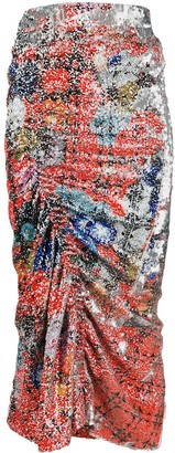 Preen by Thornton Bregazzi Xyla smocked midi skirt