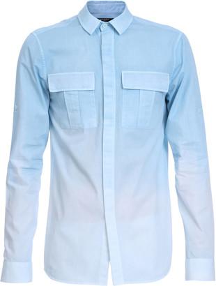Balmain Gradient-Dyed Cotton Poplin Military Shirt