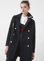 MANGO Patches Wool Coat