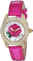 Betsey Johnson Women's Quartz Stainless Steel and Leather Casual Watch