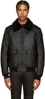 Belstaff Black Waxed Mortimer Jacket
