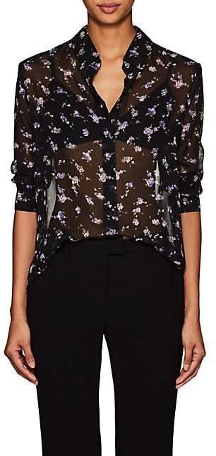 Altuzarra Women's Chika Floral Silk Blouse - Black
