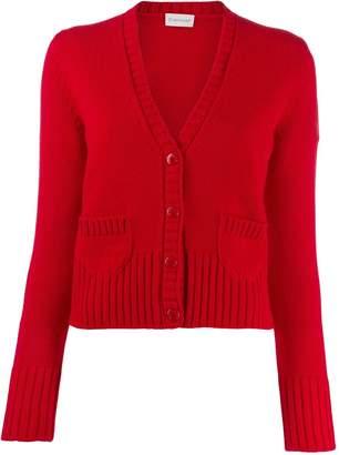 Moncler rib-knit trim cardigan