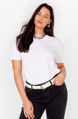 Nasty Gal Womens How We Tee It Plus Relaxed Tee - White