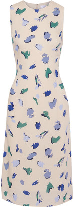 Iris & Ink Heather Printed Crepe De Chine Dress