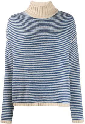 Roberto Collina striped contrast-trimmed jumper
