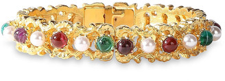 Ben-Amun 24-karat Gold-plated, Faux Pearl And Stone Bangle