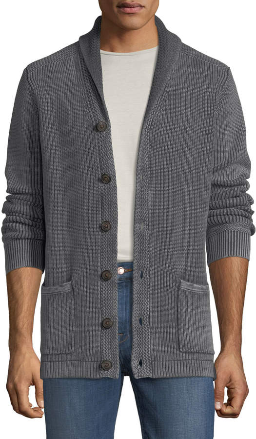 Neiman Marcus Men's Chunky Shawl-Collar Cardigan