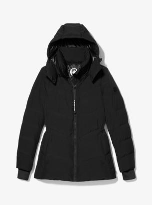 MICHAEL Michael Kors Metallic Quilted Chevron Packable Puffer Jacket