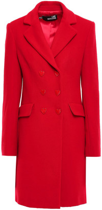 Love Moschino Double-breasted Wool-blend Felt Coat