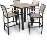 Polywood Euro 5-piece Outdoor Bar Table Set