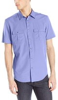 Calvin Klein Men's Short Sleeve Tencel Button Down Shirt