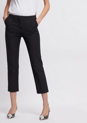 Emporio Armani Stretch Gabardine Capri Trousers