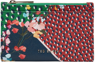 Ted Baker Hassiee Mixed Print Leather Wallet