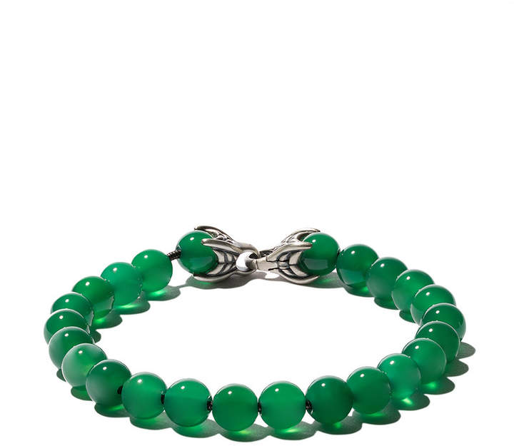 David Yurman Spiritual Beads green onyx bracelet