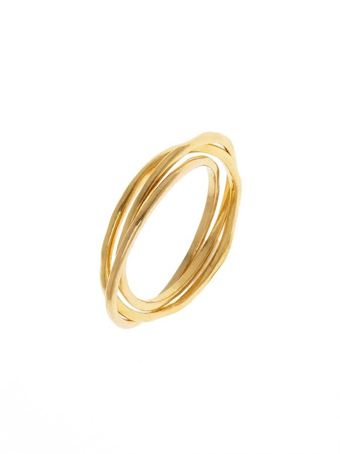 BaubleBar Gold Infinity II Ring