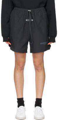 Essentials Black Volley Shorts