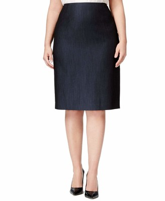 Anne Klein Women's Plus Size Denim Twill Skirt