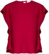 RED Valentino Ruffled crepe sleeveless top