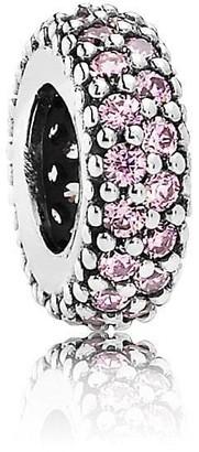 Pandora Women's 925 Sterling Silver Pink Zircon Bead