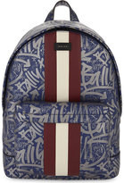 Bally Graffiti Leather Backpack