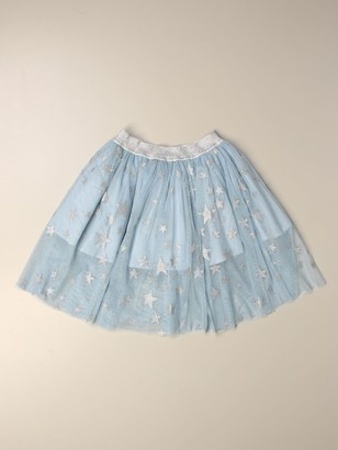 Stella McCartney Wide Skirt With All Over Stars
