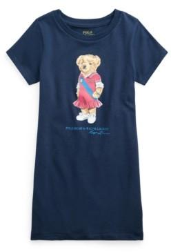 Polo Ralph Lauren Little Girls Polo Bear Cotton Jersey T-shirt Dress