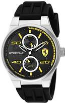 Ferrari Scuderia Men's Quartz Stainless Steel and Silicone Casual Watch
