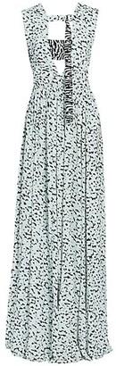 Proenza Schouler Cutout Printed Maxi Dress